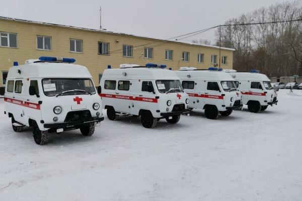 Эти автомобили отправили в сельские районные больницы Кузбасса