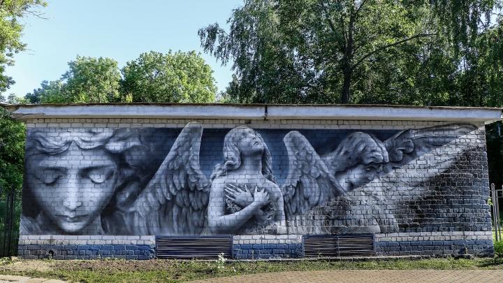 В Нижнем Новгороде появился масштабный рисунок «Молитва ангелов»