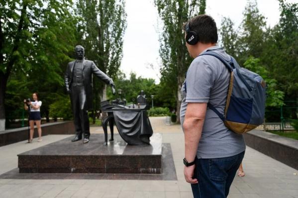 Маршрут включал Большую Садовую, Парк Горького, Соборную площадь, набережную и другие туристические места