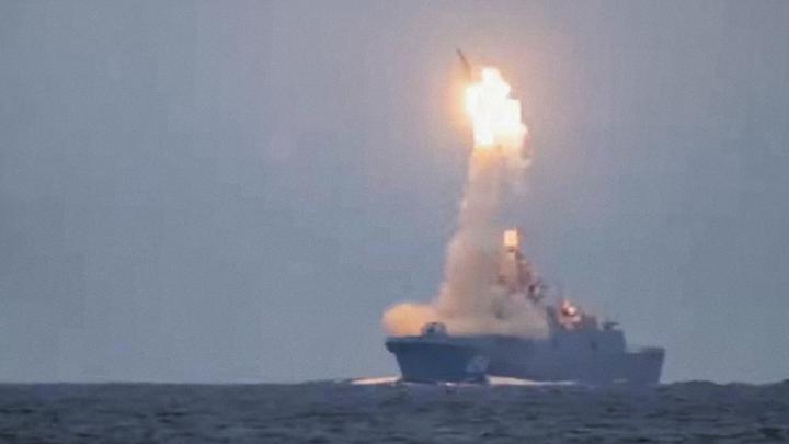 В Белом море успешно прошли испытания гиперзвуковой ракеты «Циркон». Видео