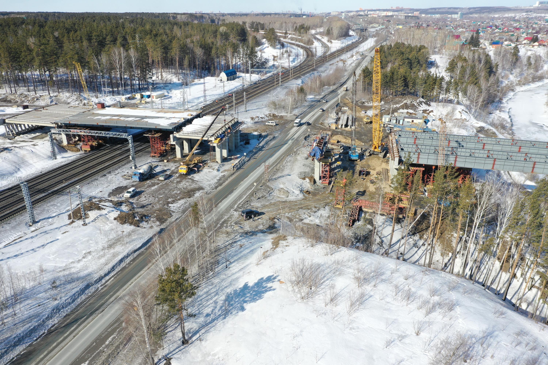 Строительство первого этапа Восточного обхода Новосибирска