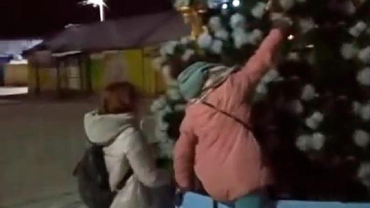 В Ярославской области дети разграбили новогоднюю елку