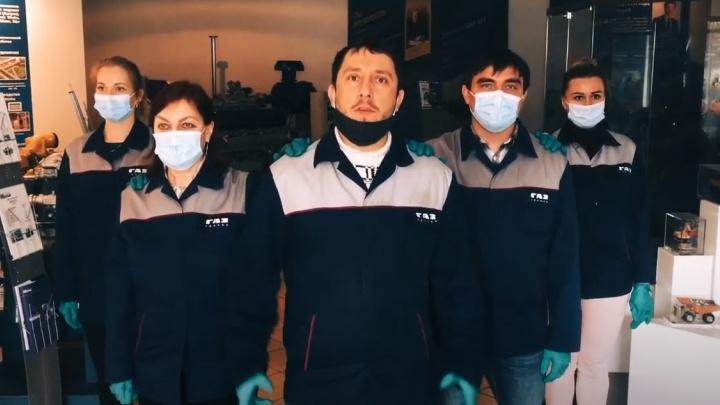 «Государство, ты обязано ГАЗу»: рабочие моторного завода сняли клип против пандемии и санкций