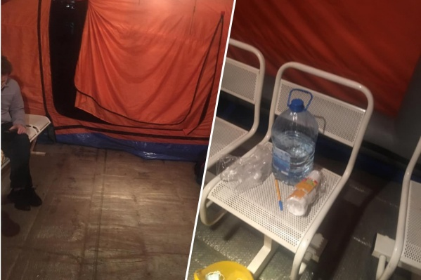 По словам Риммы Убейконь, кроме неё и её супруга в палатке провели ночь также четыре пациента