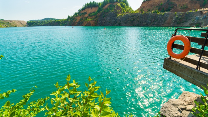 Что скрывается на дне Голубых озер, или Один день с дайверами. Репортаж из глубины затопленного карьера