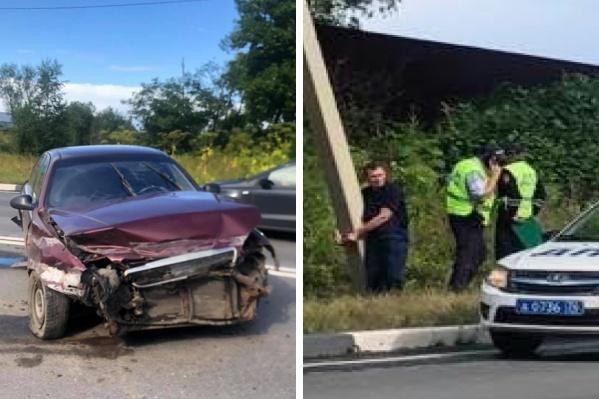 Водитель чуть не погубил других на трассе