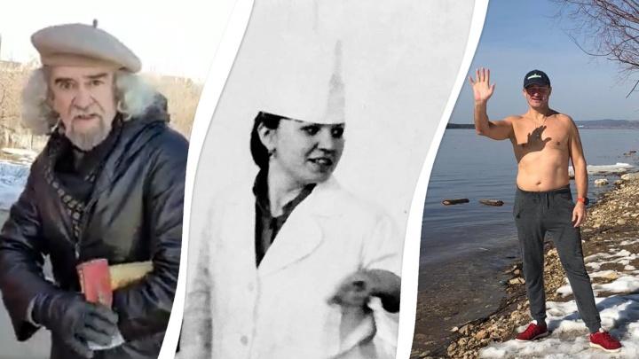 С голым торсом, топором и в белом халате: как самарский истеблишмент проводит время на карантине