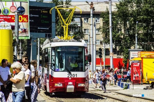 Общественный транспорт замрёт на минуту