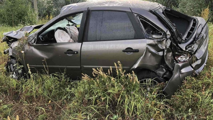 Машина вдребезги: в Самарской области молодой водитель погиб в ДТП