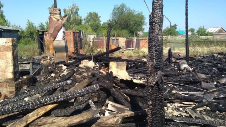 В Зауралье во время пожара погибла пенсионерка