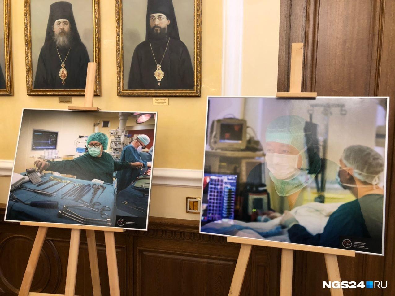 Снимки Снеткова висят в коридорах кардиоцентра