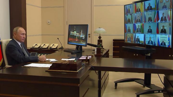 «Я вижу ваш настрой, он такой боевой»: Путин дал онлайн-напутствие Цыбульскому