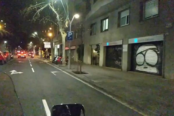 В Барселоне на улицах малолюдно