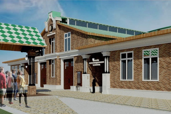 Это эскиз одной из станций детской железной дороги в Перми