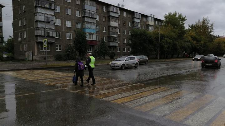В Зауралье возле школ дежурят усиленные патрули сотрудников ГИБДД