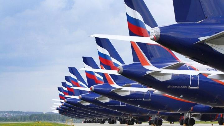 В аэропорту Кольцово «припарковали» 16 самолетов «Аэрофлота», которым некуда летать из-за пандемии