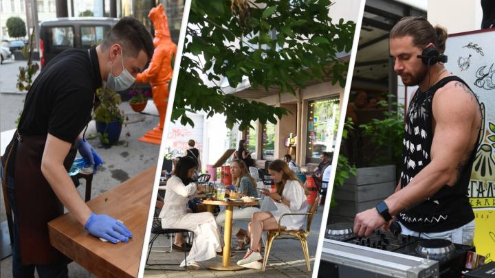 Мест нет даже в солнцепек: как в Екатеринбурге работают летние веранды