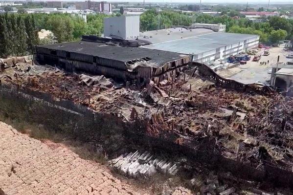 Площадь пожара составила 7500 квадратных метров