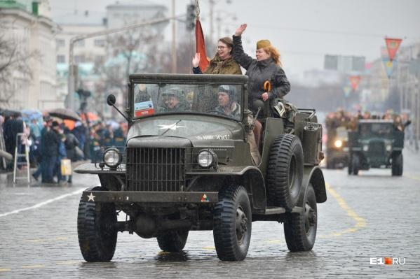Колонна грузовиков проедет по центру Екатеринбурга
