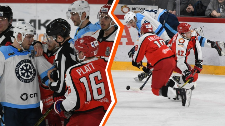 Как начался плей-офф: 25 забавных и эффектных кадров с домашних матчей «Автомобилиста» против «Сибири»
