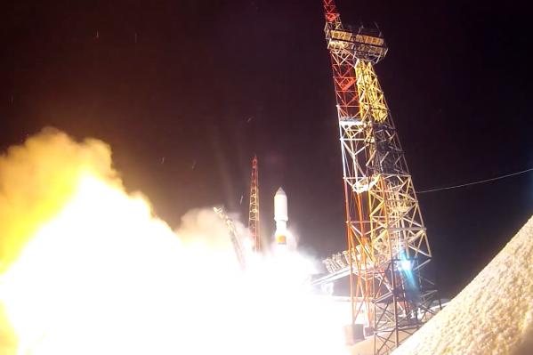 Запуск прошел в 22:08 по московскому времени