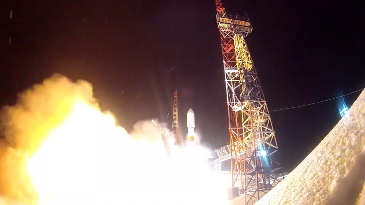 С космодрома Плесецк запустили ракету-носитель со спутником «Глонасс-К»