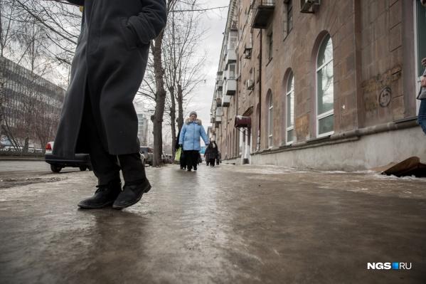 Гололёд снова вернётся в Новосибирск