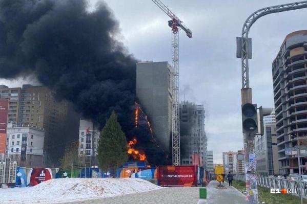 Пожар был непродолжительным, но очень заметным