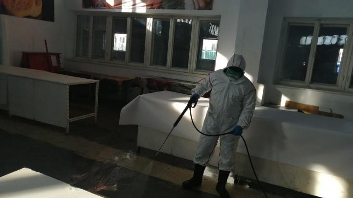 Рынок в Башкирии, где зараженные коронавирусом продавали мясо, дезинфицировали, а сам процесс сняли на видео