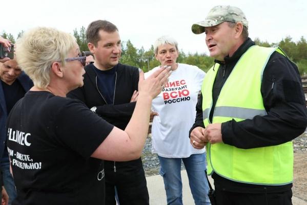 Встреча с активистами и охраной экотехнопарка