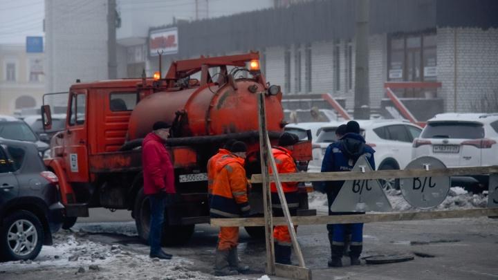 Участок набережной рядом с поликлиникой медцентра им.Семашко закроют из-за ремонта водопровода