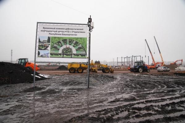 Радий Хабиров побывал на месте строительства второго ковид-госпиталя в Стерлитамаке