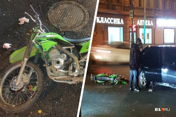 У пострадавшего 17-летнего мотоциклиста всего 11 месяцев водительского стажа