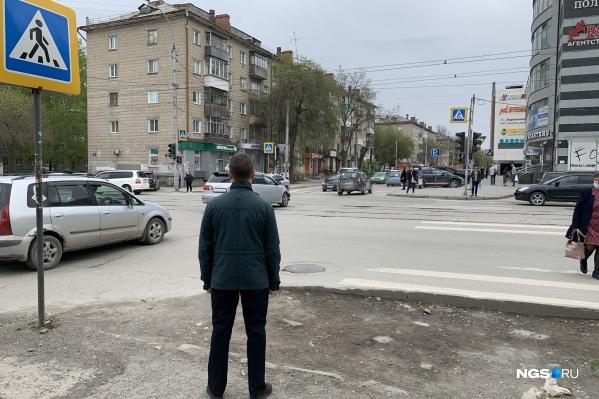 Перекресток улиц Геодезической и Блюхера