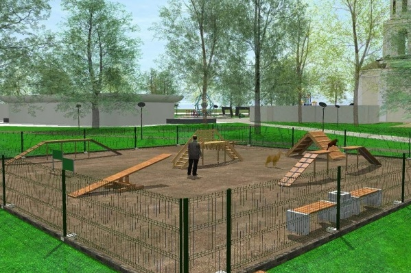 В новом парке появится площадка для выгула собак