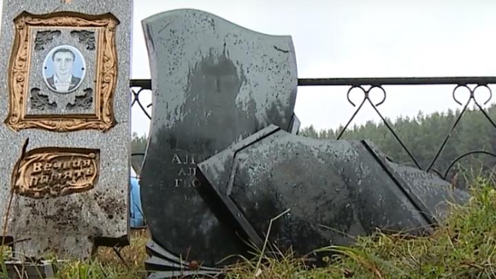 В Канске неизвестные повредили десятки могил