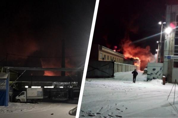 В МЧС подтвердили, что информация о пожаре поступала