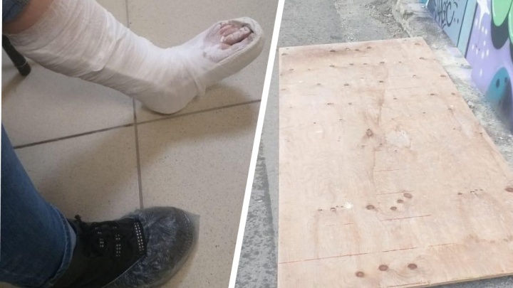 «Ребенок не чувствует ногу». На улице Раевского кусок забора рухнул и сломал лодыжку школьнице