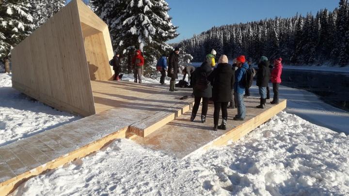 В Прикамье открыли новую смотровую площадку с видом на Усьвинские столбы