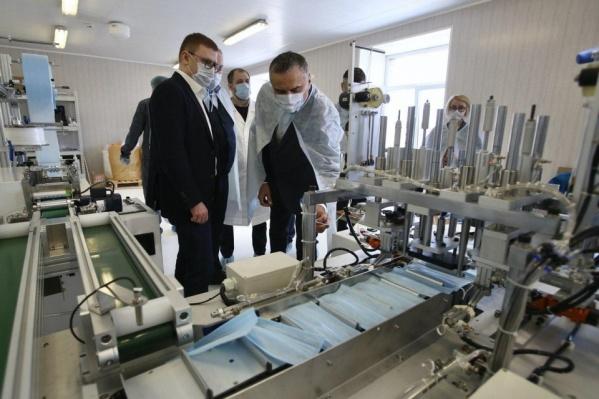 Новую линию по производству масок запустило АО «Областной аптечный склад»