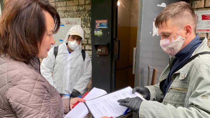 В Самаре подъезды дезинфицируют от коронавируса под расписку жильцов