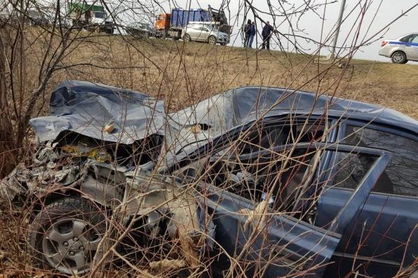 Три машины столкнулись у поворота к поселку Дивный