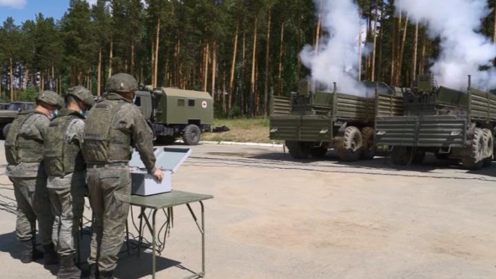 В Екатеринбурге артиллеристы провели генеральную репетицию Победного салюта