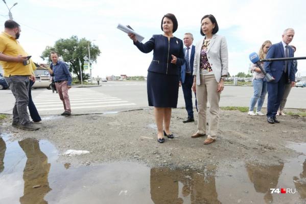 Галина Гаврилова (в центре слева) перешла работать в Центральный район