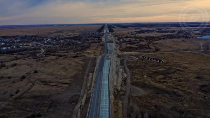 Реконструкцию трассы на Москву показали с высоты птичьего полета