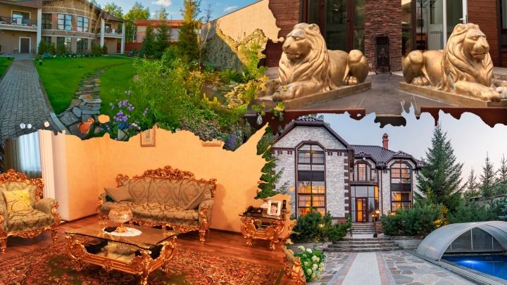 Стоят особняком. В Челябинске продают роскошные дома под 100миллионов рублей (есть хаммам)