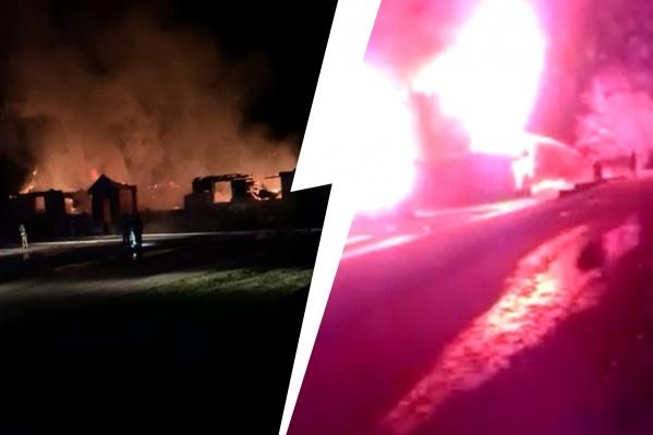 Пожар вспыхнул ночью 22 октября