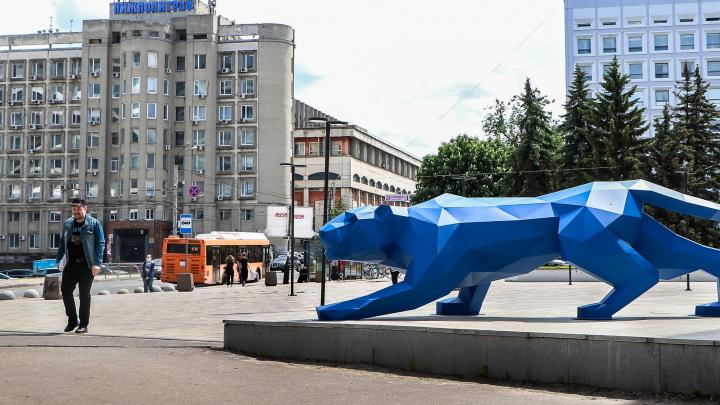В центре Нижнего Новгорода объявилась стальная пантера