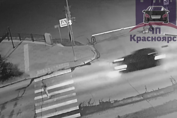 Мужчина даже не сбавил скорости перед пешеходным переходом