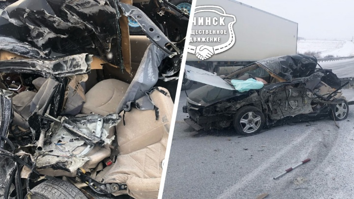 Водитель чудом выжил после неудачного обгона на трассе
